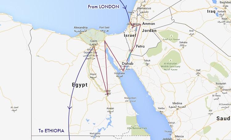 中東 ルート 世界一周 エジプト