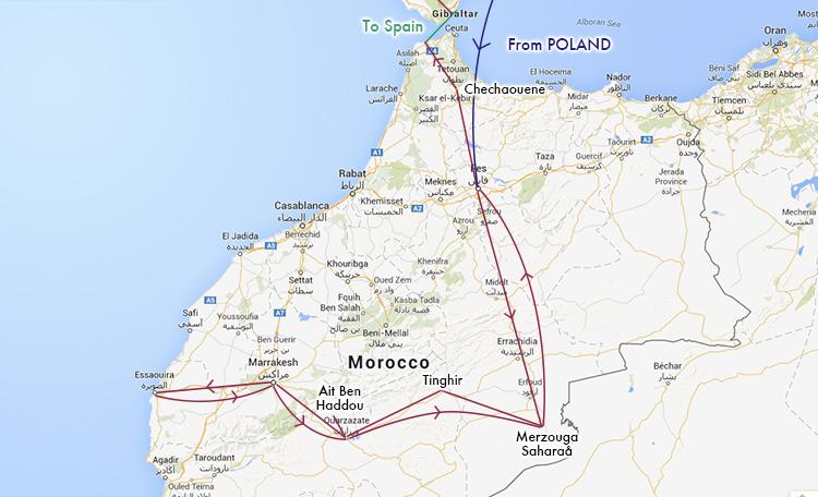 モロッコ ルート