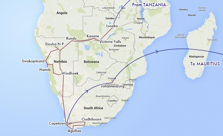 世界一周 アフリカ ルート マップ 地図