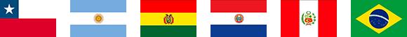 南アメリカ 国々 国旗