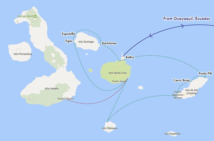 ガラパゴス 地図 ルートマップ