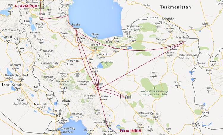 イランmap