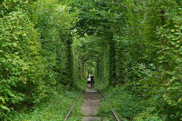 カップルで恋のトンネル