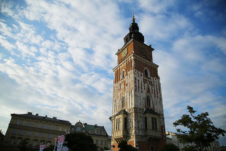 クラクフ 時計塔