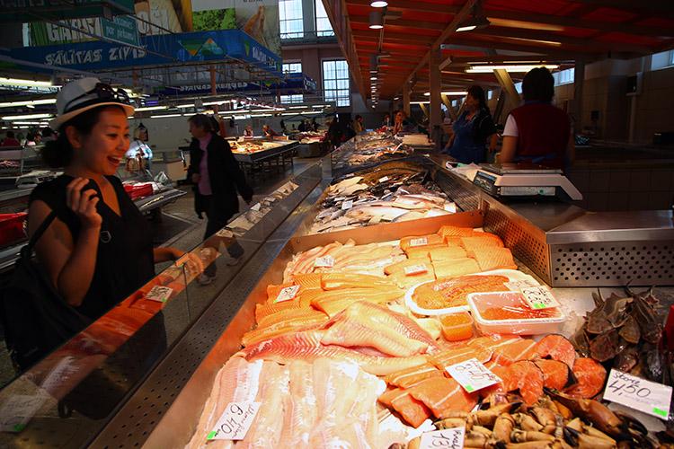リガ 中央市場