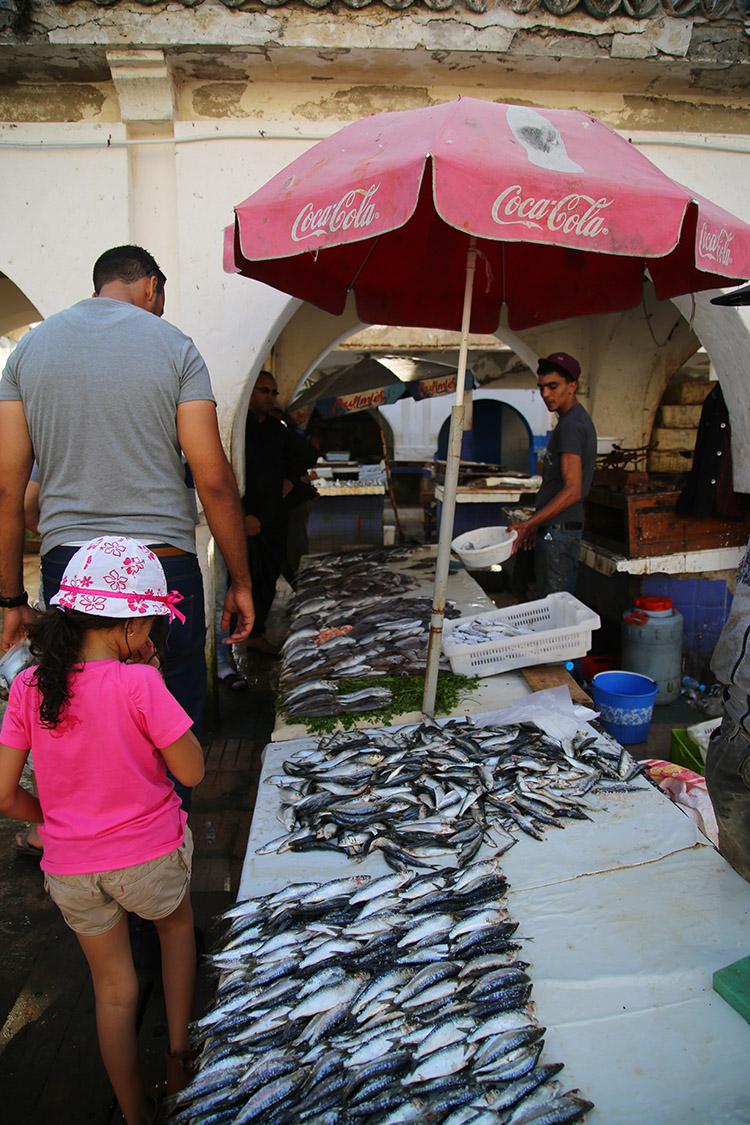 エッサウィラ 魚市場