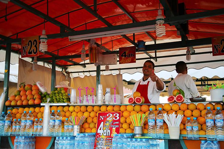 フナ広場 オレンジジュース
