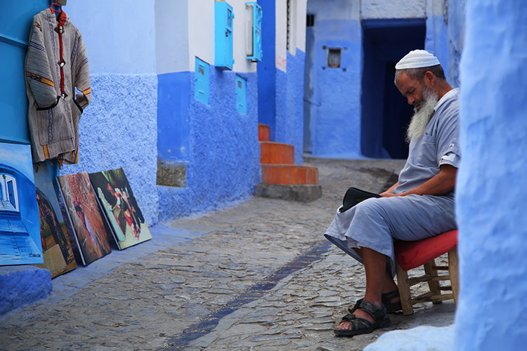 モロッコ 青い町 シャウエン