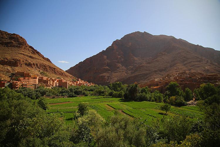 モロッコ トドラ渓谷