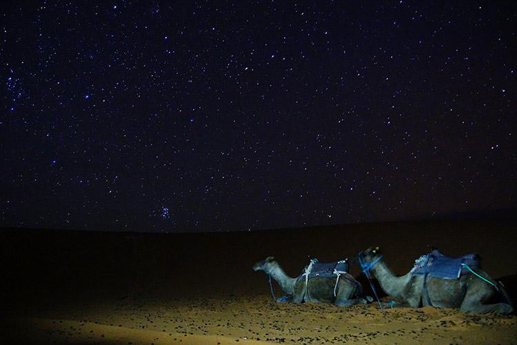 サハラ砂漠 星空 写真