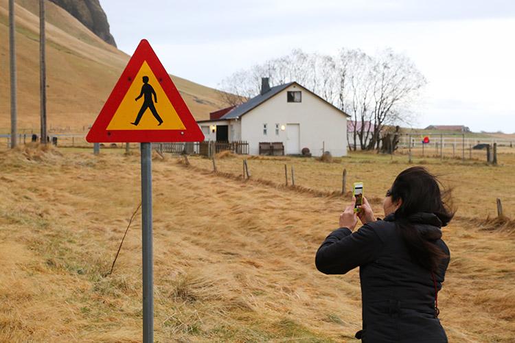 アイスランド 標識 デザイン