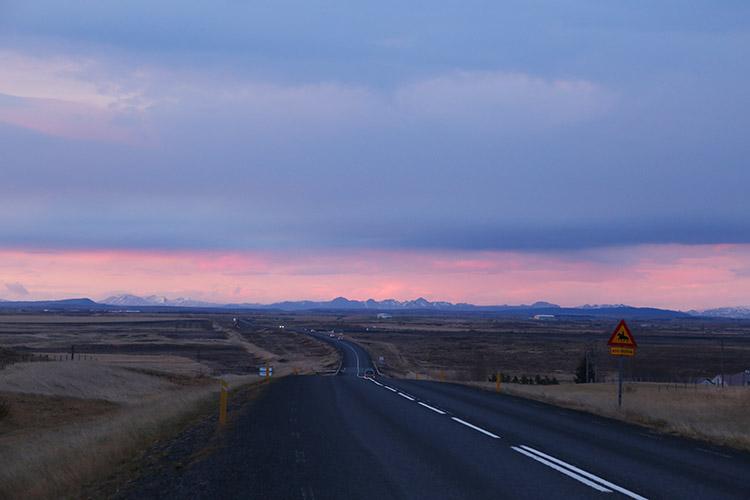 アイスランド 夕焼け