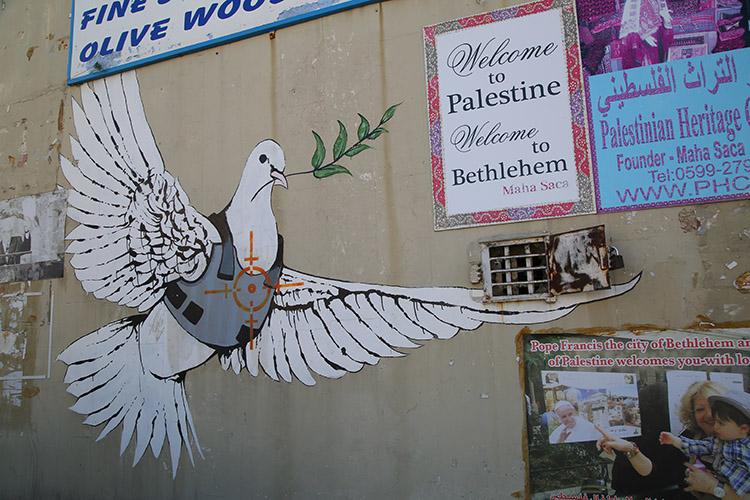 パレスチナ自治区 バンクシー アーティスト