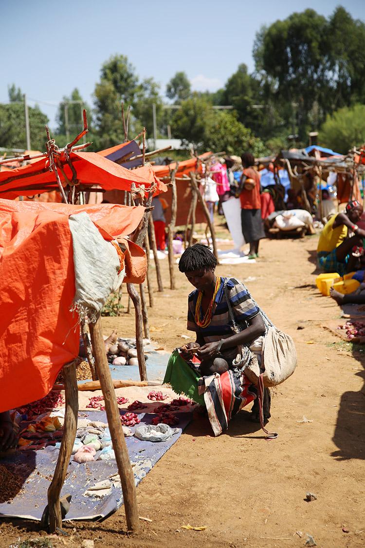 エチオピア カイアファール 木曜 マーケット