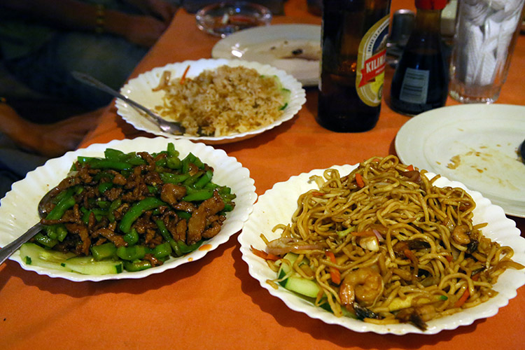 タンザニア アルーシャ 中華料理