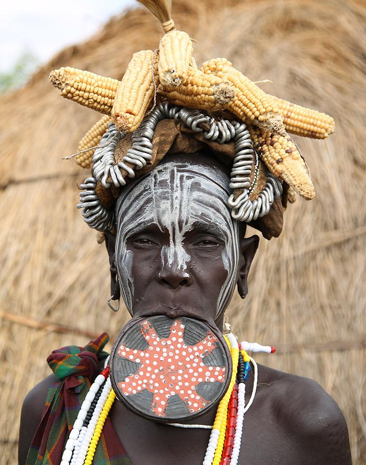 エチオピア ムルシ族 少数民族 ジンカ