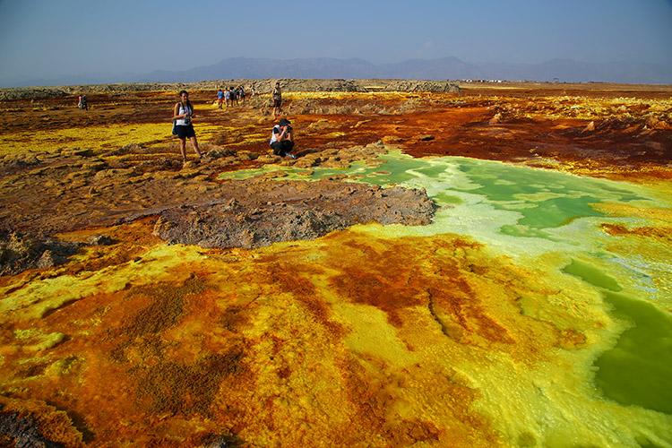 ダナキルツアー エチオピア ダロール火山