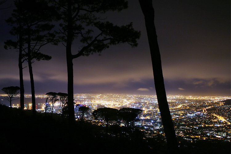 ケープタウン 夜景