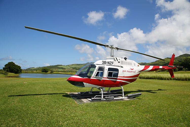 モーリシャス ヘリコプター