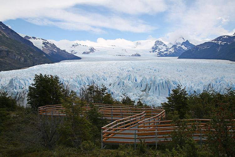ペリトモレノ氷河 遊歩道