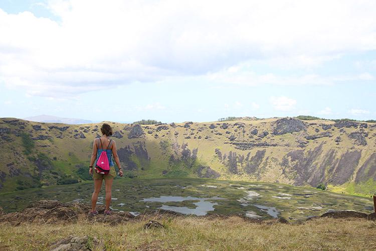 イースター島 ラノ・カウ火山