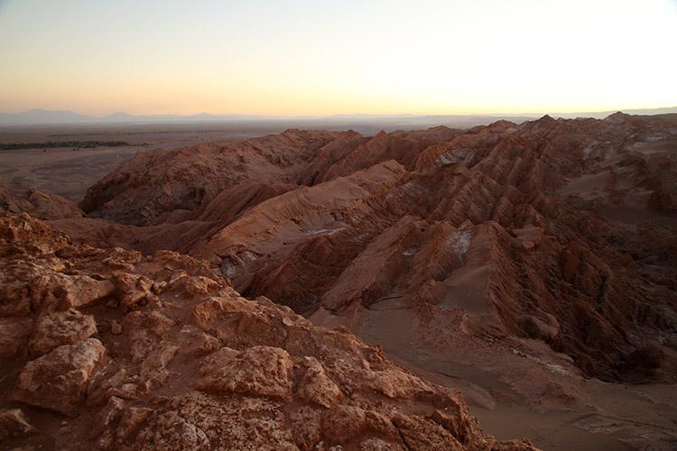 アタカマ砂漠 月の谷 夕焼け