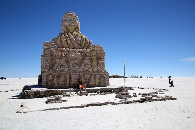 ウユニ塩湖 ダカール ラリー