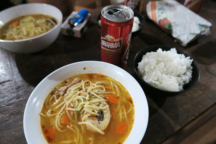 民宿小林 食事 ご飯 パラグアイ料理