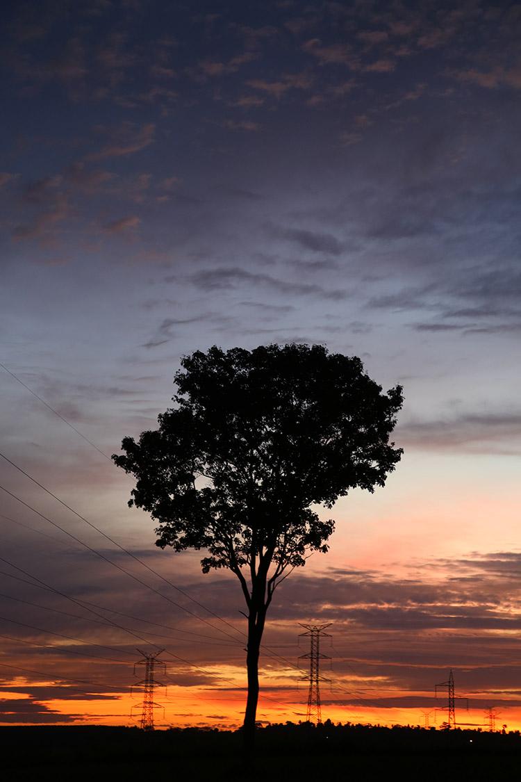 パラグアイ 民宿小林 夕焼け