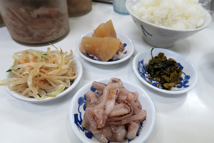 天ぷら ひらお イカの塩辛