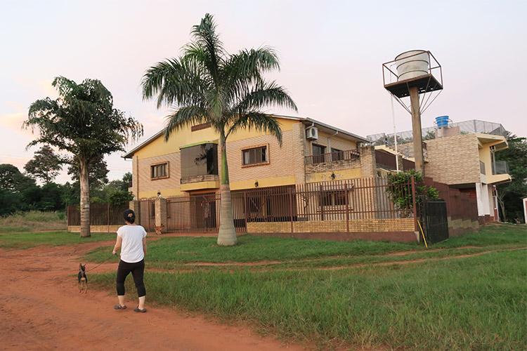 民宿小林 パラグアイ 犬の散歩