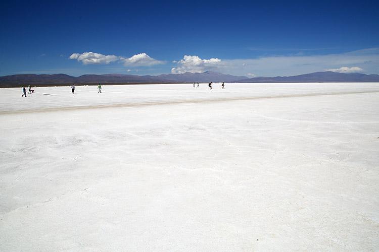 サリーナス・グランデス 塩湖 南米 アルゼンチン