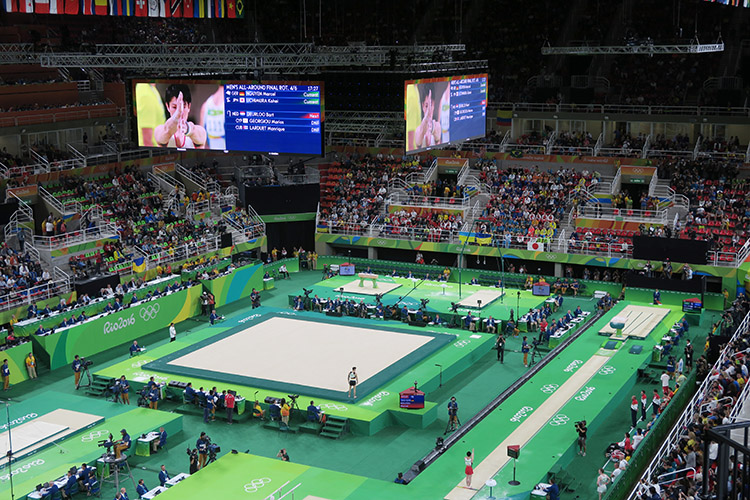 オリンピック 体操 内村航平 金メダル 現地観戦 跳馬