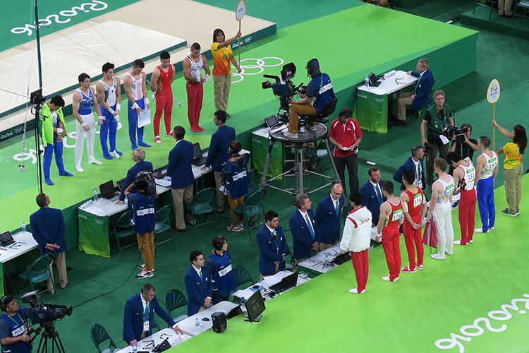 オリンピック 体操 内村航平 金メダル 現地観戦 平行棒