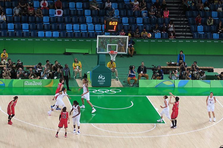リオオリンピック 2016 女子バスケット 日本vsブラジル