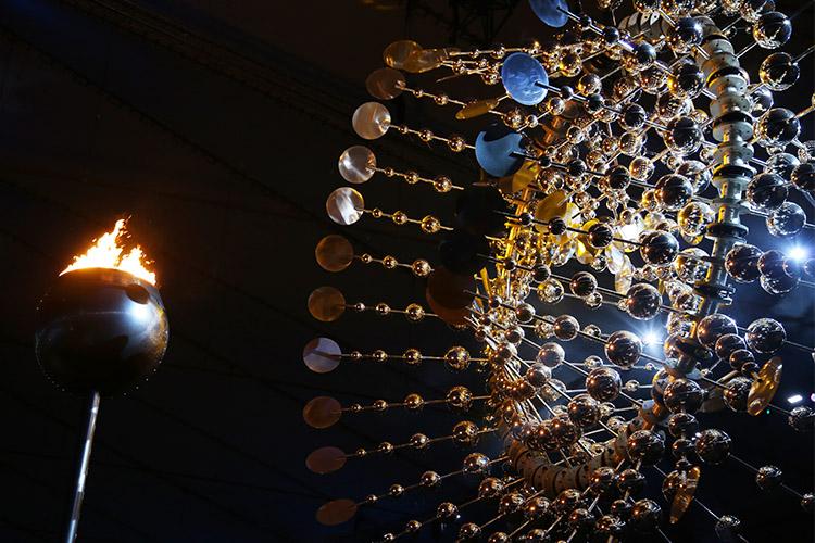 リオオリンピック 2016 リオ五輪 閉会式 聖火台
