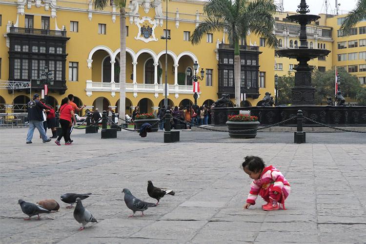 リマ 旧市街 アルマス広場