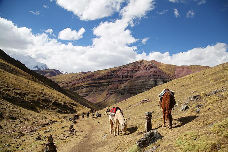 レインボーマウンテン クスコ ペルー