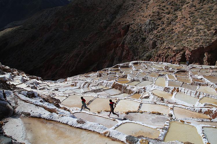 マラスの塩田 クスコ ペルー