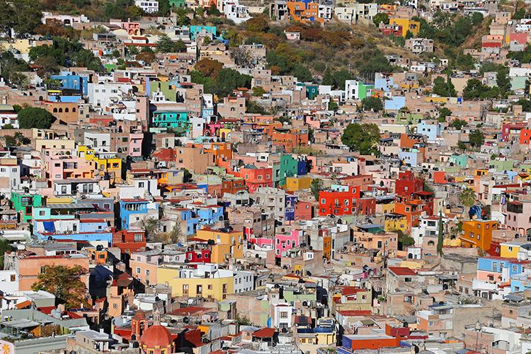 カラフル 街 グアナファト メキシコ