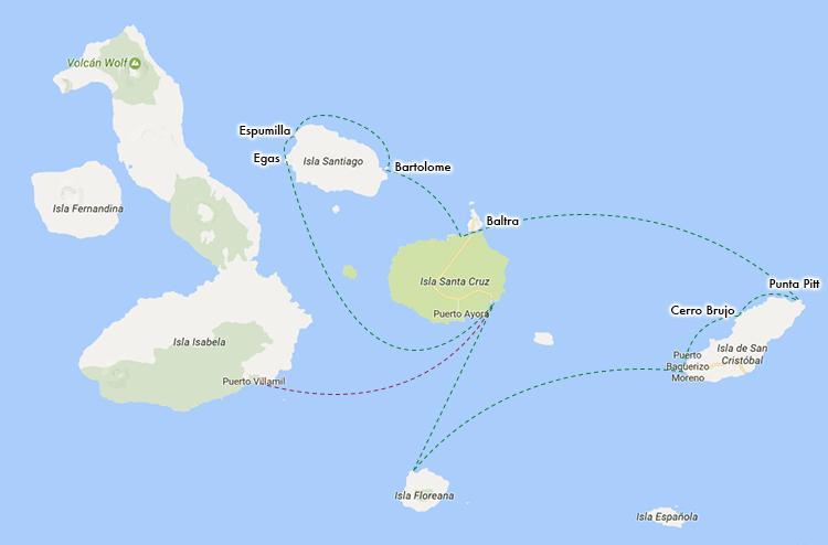 ガラパゴス諸島 ルートマップ イザベラ島