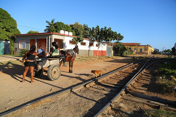 トリニダー駅 蒸気機関車