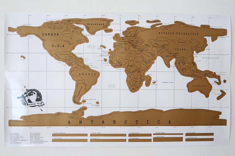 スクラッチマップ 世界地図