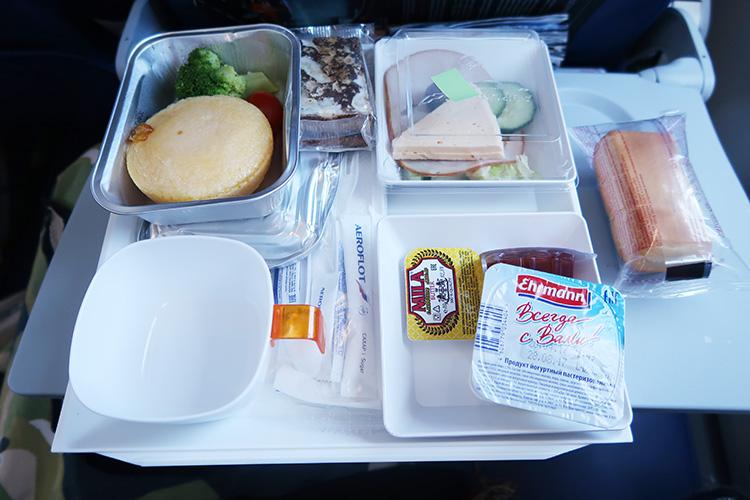 アエロフロート 機内食