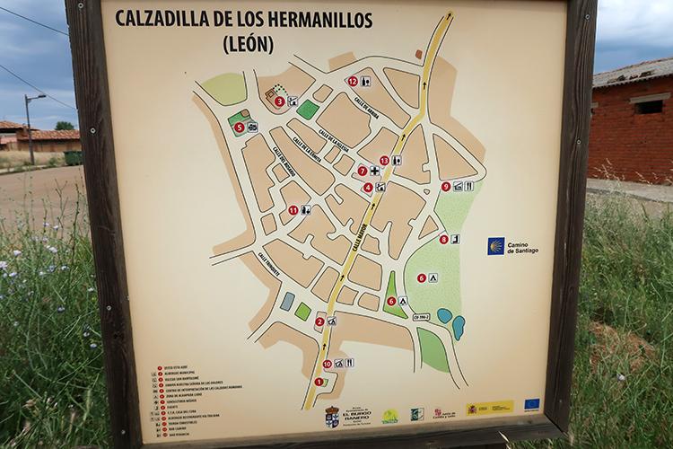 CALZADILLA de los Hermanillos map