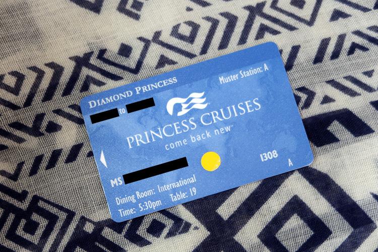 ダイヤモンド・プリンセス クルーズカード