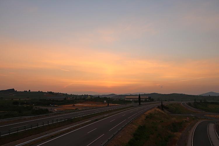 カミーノ・デ・サンティアゴ 夜明け