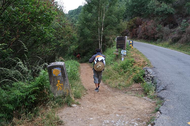 オセブレイロ 峠道 山道