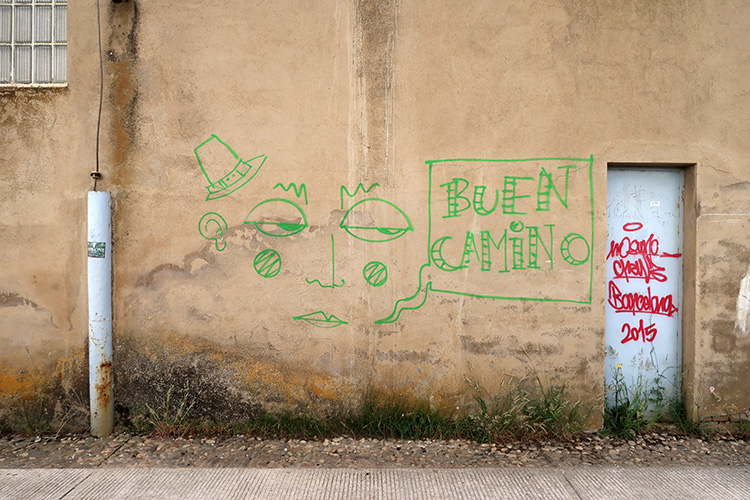 カミーノ 壁の落書き