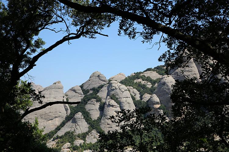 モンセラット バルセロナ 山頂